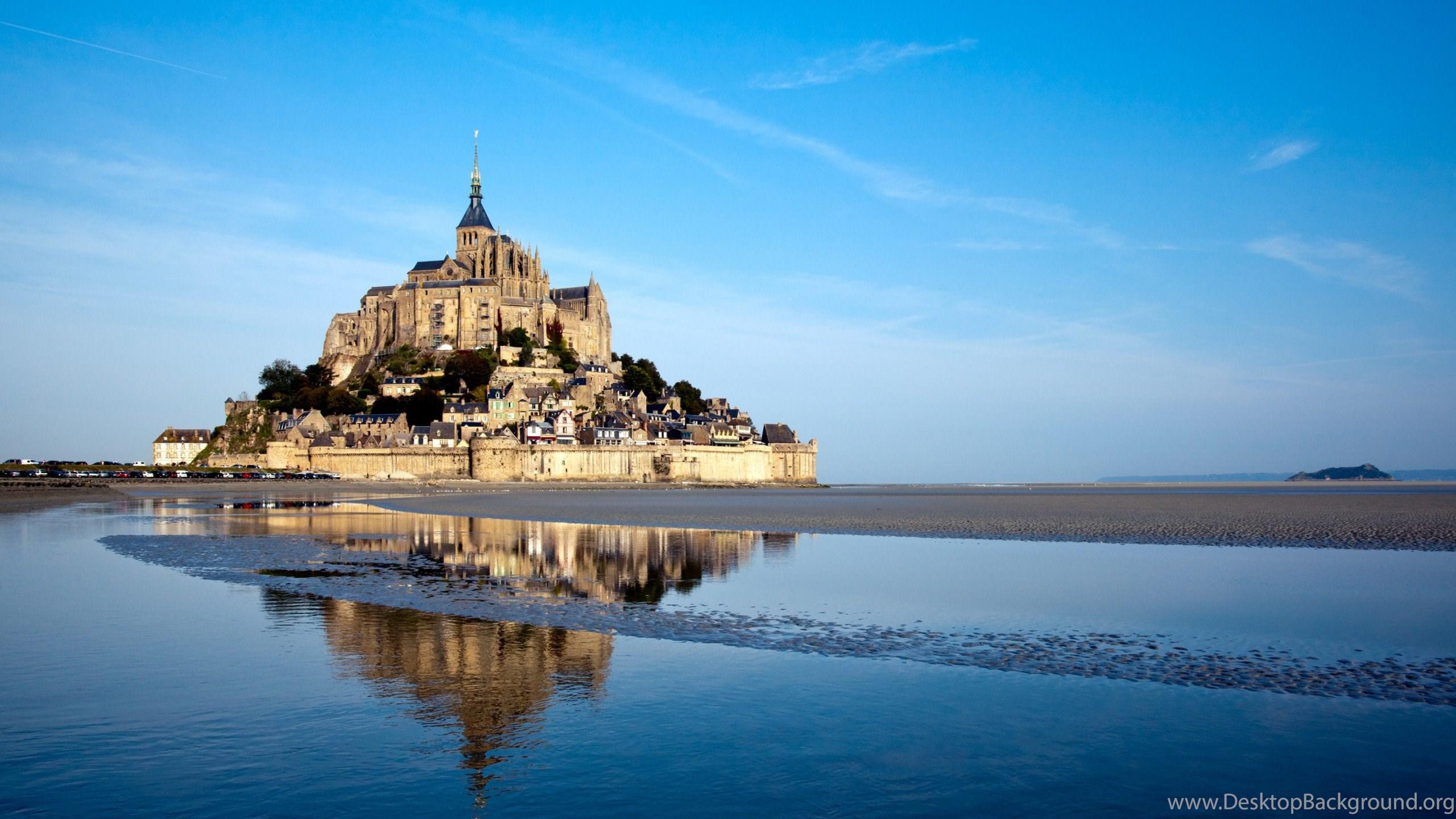 Wallpapers St Michael Mont Saint Michel Basse Normandie Frankreich Desktop Background