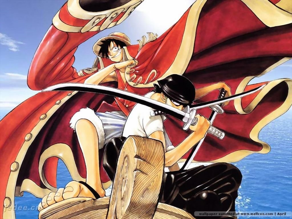 Wallpapers One Piece Luffy Nami Zolo Cartoon The Free 1024x768 Desktop Background