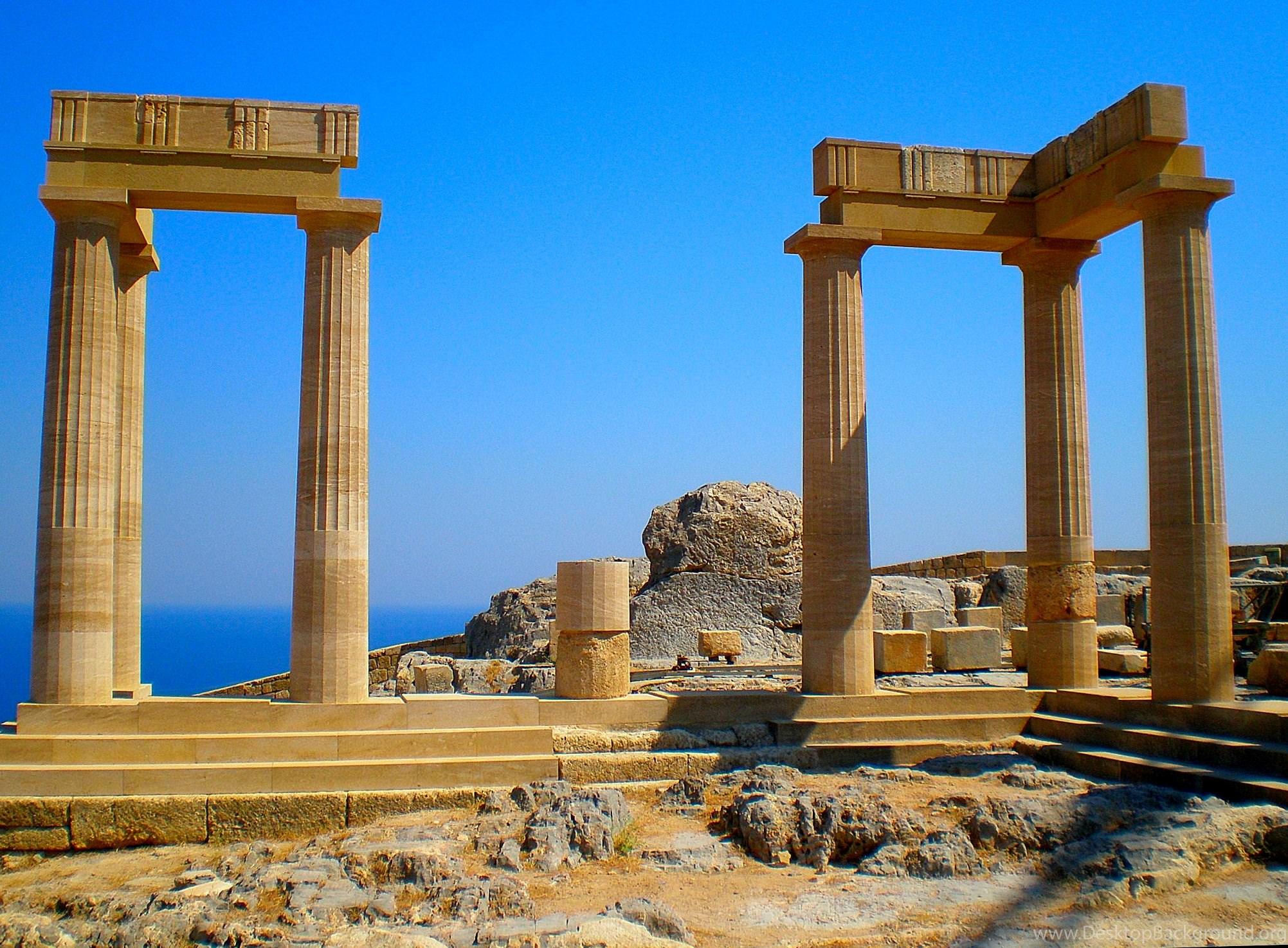 Acropolis Temple Extra Large Wallpapers Desktop Background