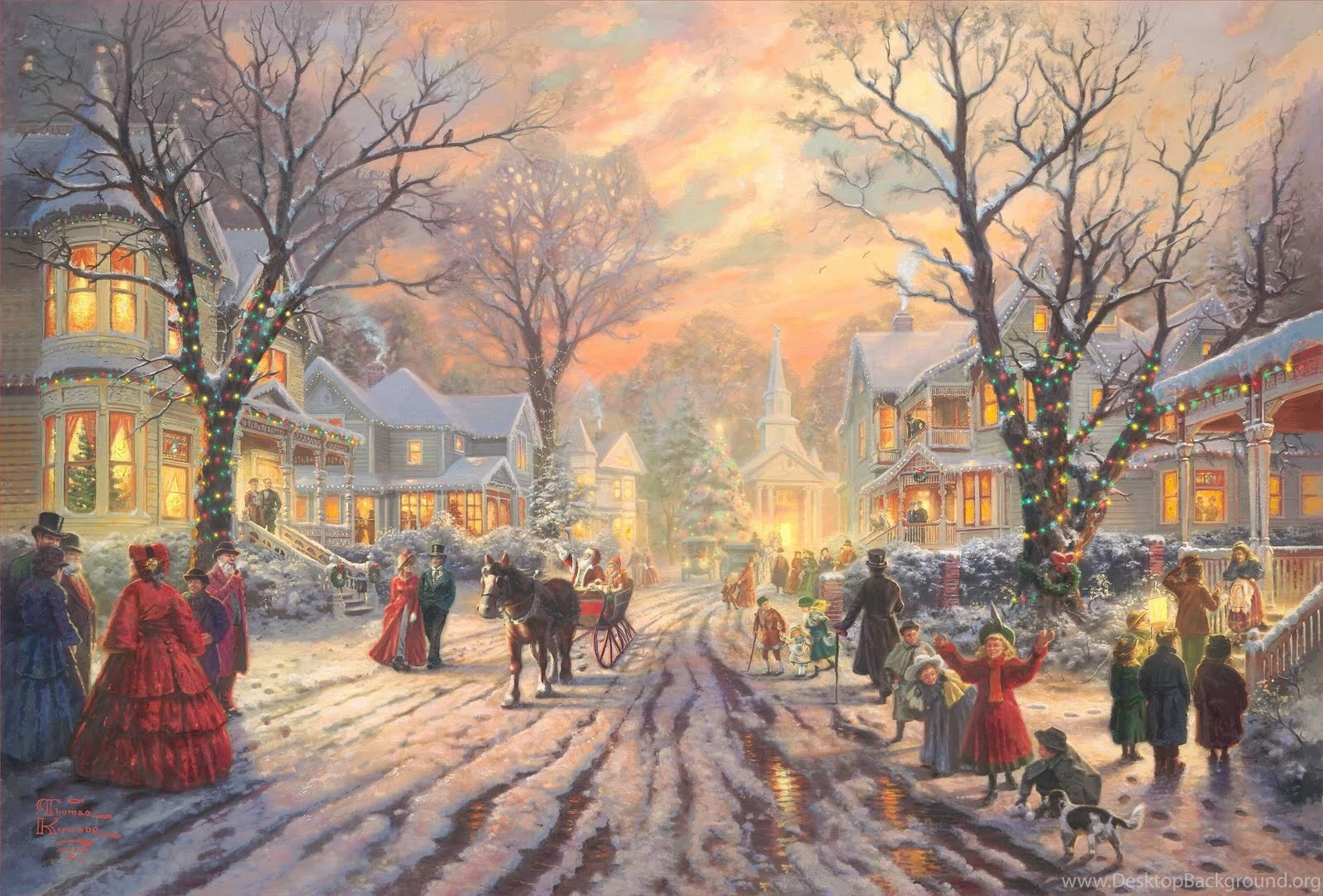 Old Fashioned Christmas Pictures Widescreen HD Wallpapers Desktop ...