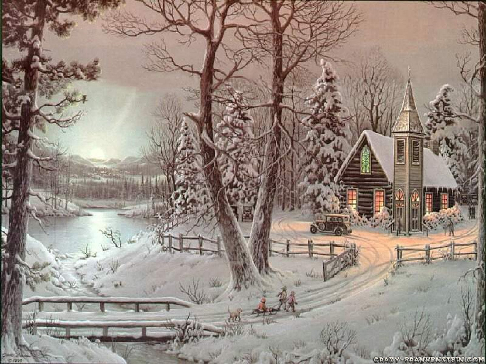 Top Old Fashioned Christmas Scenes Wallpapers Desktop Background