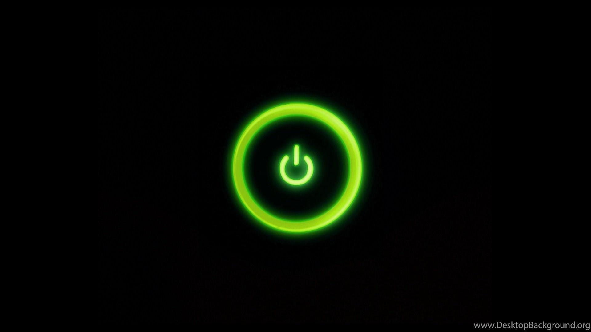 Xbox 360 Green Light Power Button HD Desktop Wallpapers Desktop