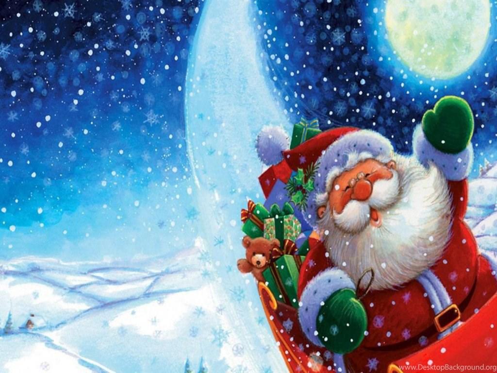 free merry christmas santa claus hd wallpapers for ipad desktop