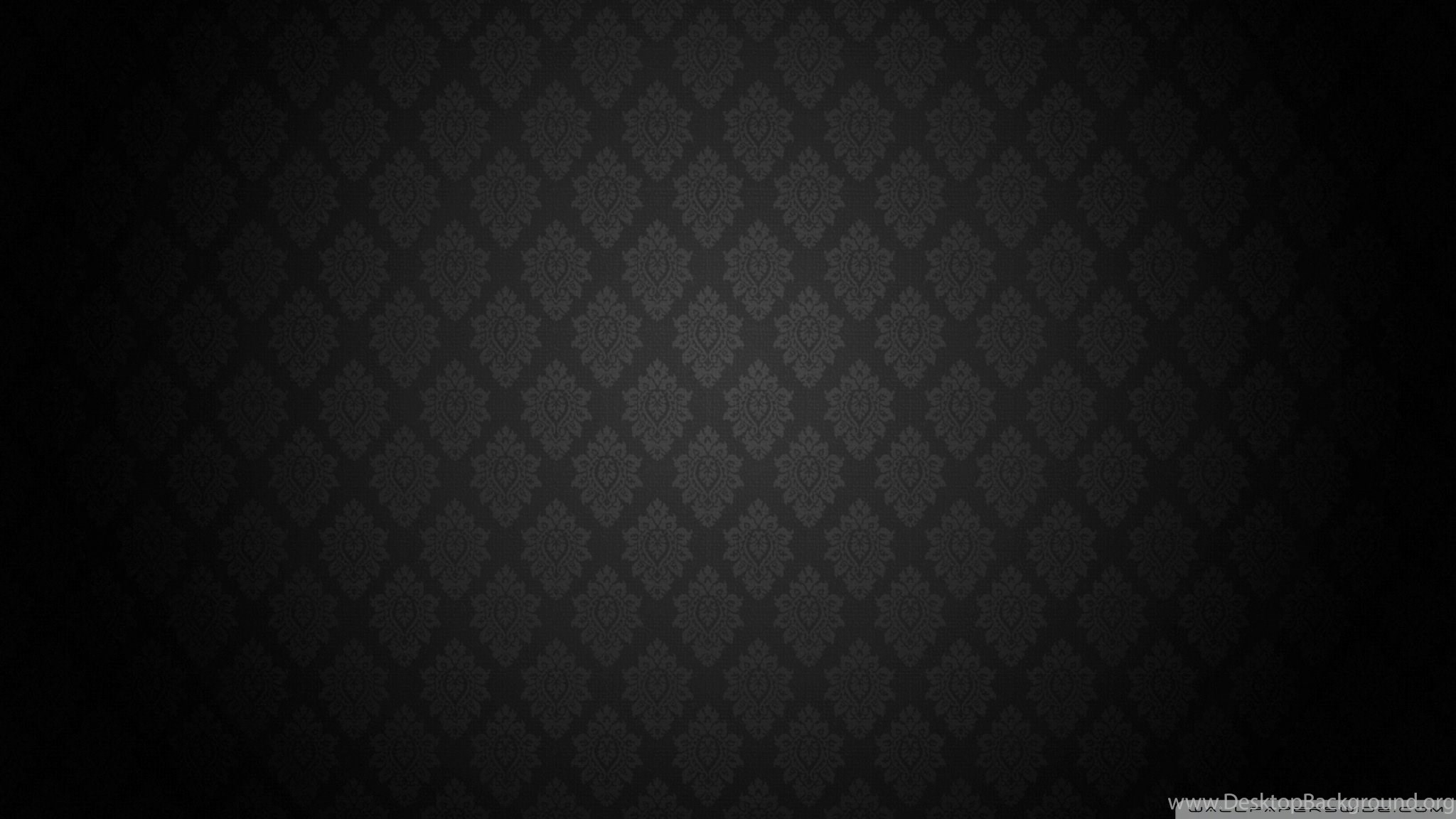 Black Baroque Pattern Hd Desktop Wallpapers High