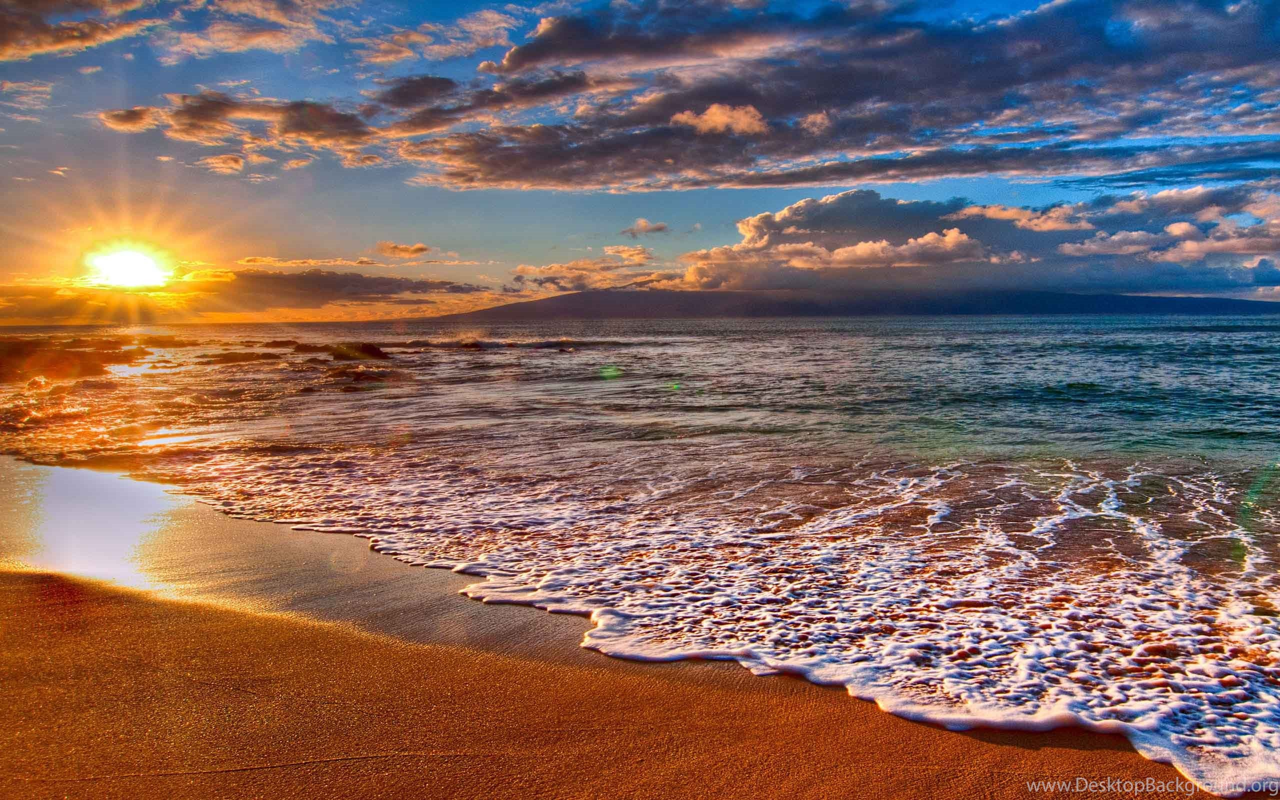 Beach Nice Hd With Sunset Wallpapers Desktop Background