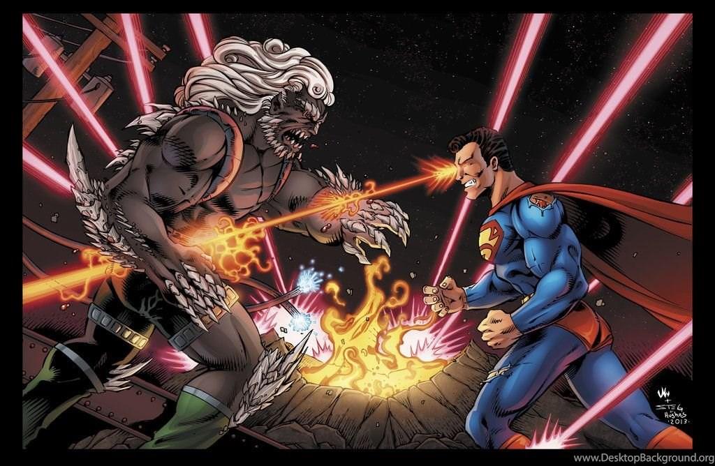 superman vs doomsday wallpaper