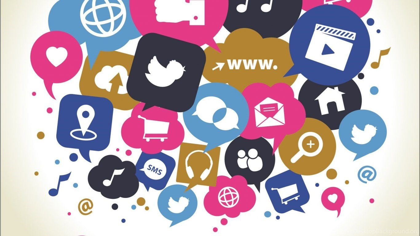 wallpaper: social media, websites, icons, people, internet