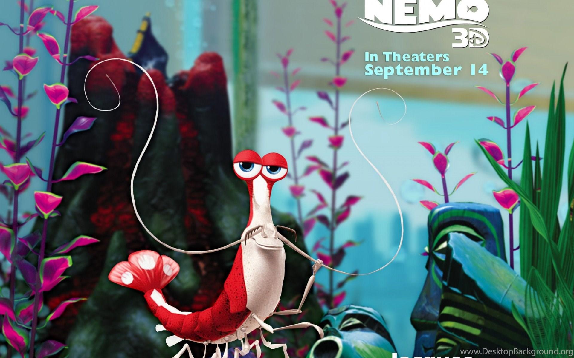 Download 1920x1200 Finding Nemo 3d Wallpapers Jacques Desktop Background