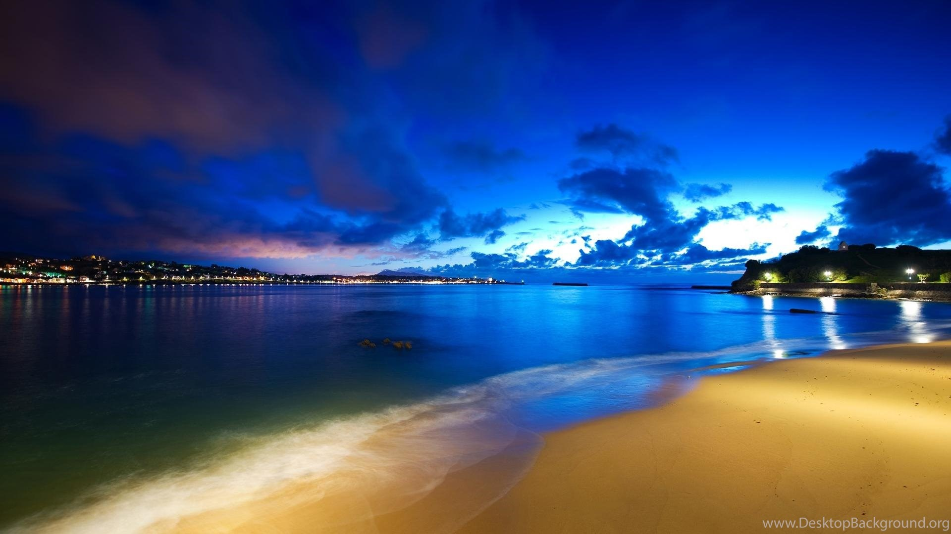 Miami South Beach Florida At Night HD Wallpapers Pic