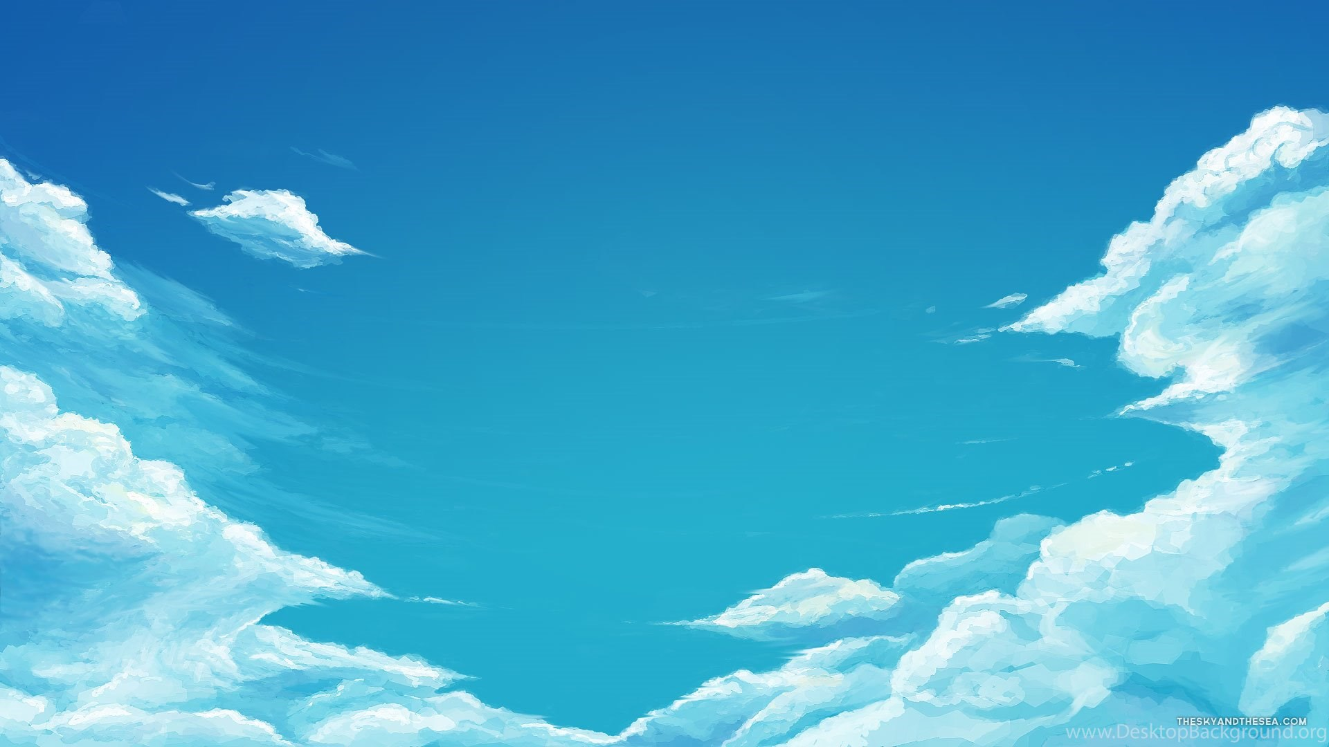 Anime Sky Blue 1920x1080 Hd Wallpapers And Free Stock Photo