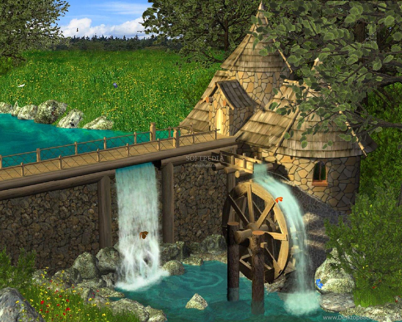Картинки водяная мельница для детей