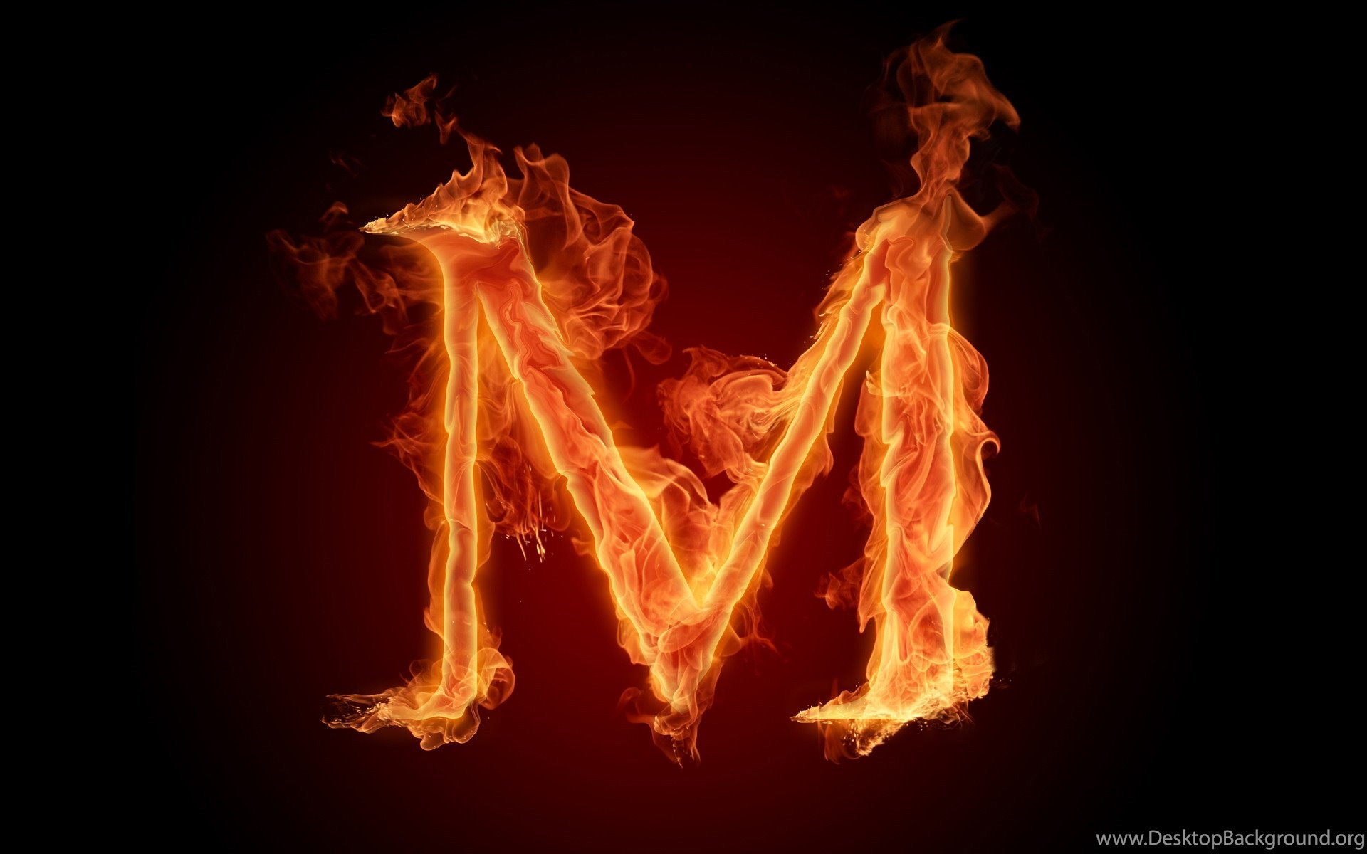 The Fiery English Alphabet Picture M Wallpapers Hd Wallpapers 73627