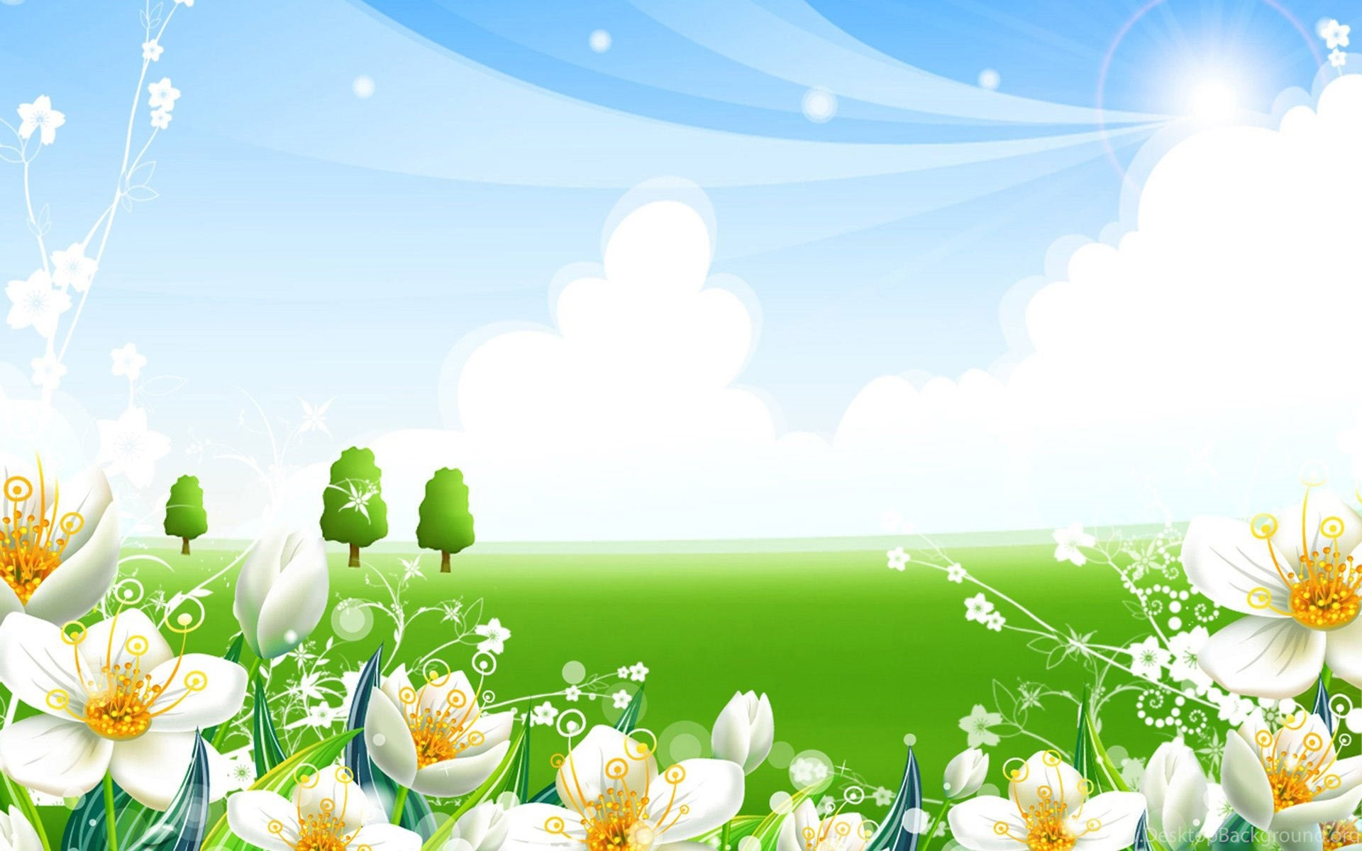 desktop, flowers, theme, meadow, summer, wallpaper, fresh ( desktop