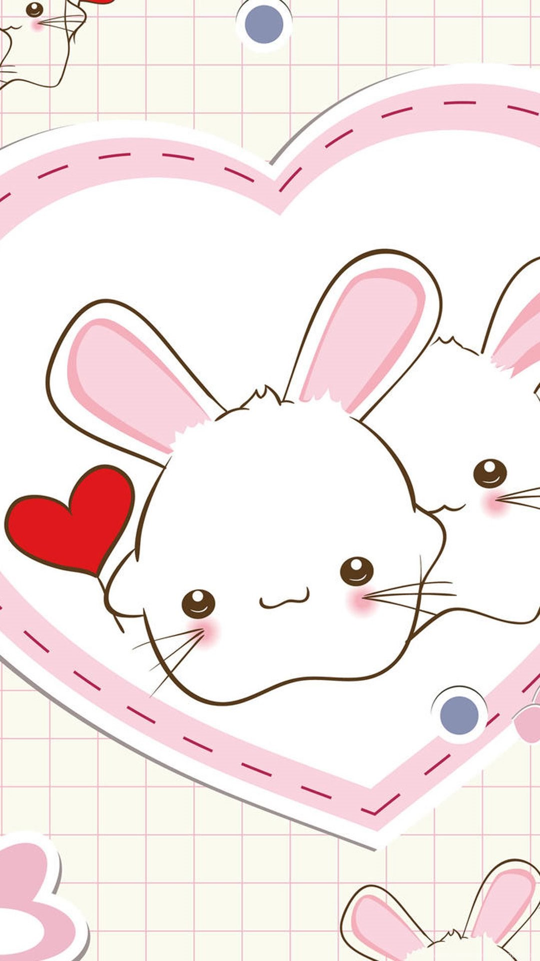 Cute Bunny Illustration Iphone 6 Plus Wallpapers Iphone 6 Plus