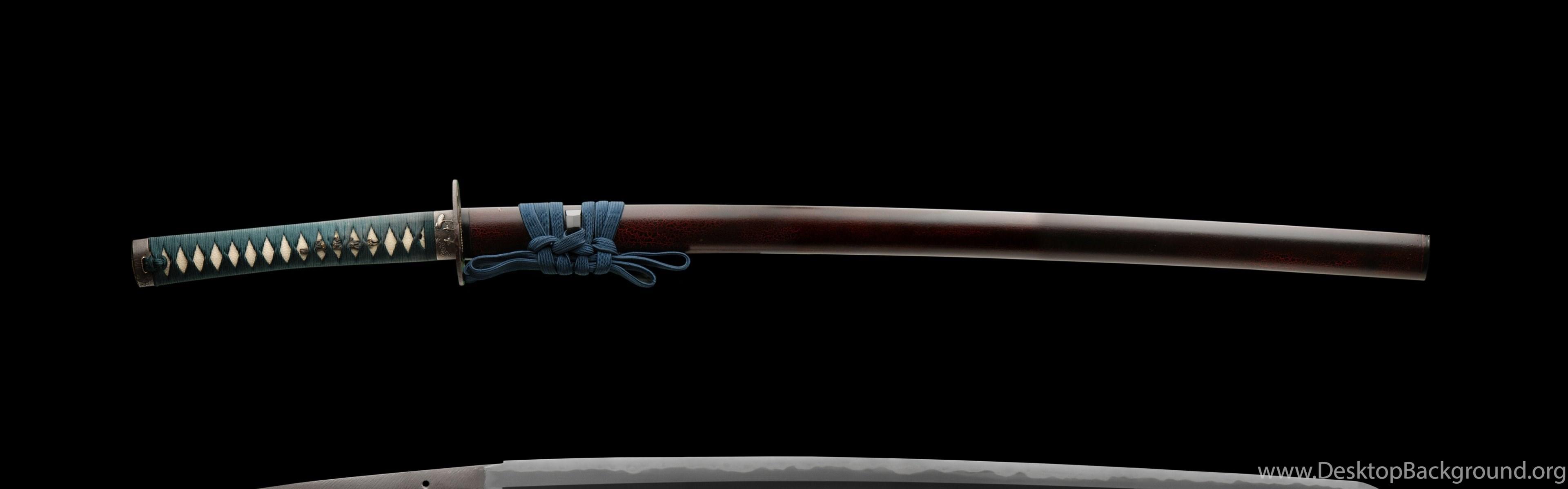download wallpapers 3840x1200 katana sword samurai